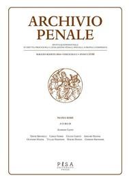 Archivio Penale 2/2016 - copertina