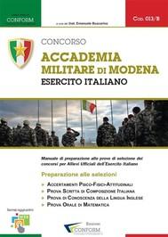 013B   Concorso Accademia Militare di Modena Esercito Italiano (Prove di Selezione - TPA, Tema, Prova Orale) - copertina