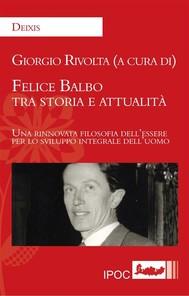 Felice Balbo tra storia e attualità - copertina