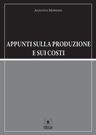 Appunti sulla produzione e sui costi - copertina