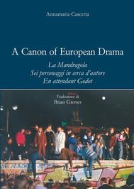 A Canon of European Drama - copertina