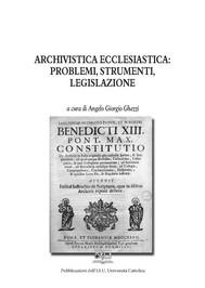 Archivistica Ecclesiastica: Problemi, Strumenti, Legislazione - copertina