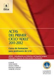 Actas del primer ciclo ADELE 2011-2012 - copertina