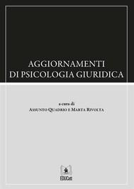 Aggiornamenti di psicologia giudirica - copertina