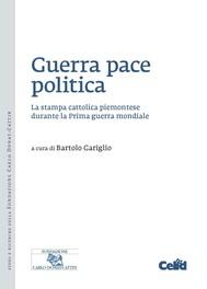 Guerra pace politica - copertina