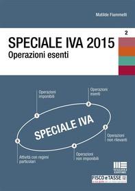 Speciale IVA 2015. Operazioni esenti - Librerie.coop