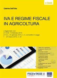 IVA e regime fiscale in agricoltura - Librerie.coop