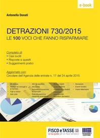 Detrazioni 730/2015 - Le 100 voci che fanno risparmiare - Librerie.coop