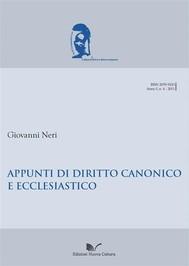 Appunti di diritto canonico ed ecclesiastico - copertina