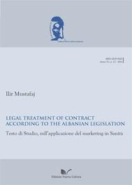 Legal Treatment of contract according to the Albanian legislation - copertina