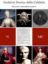 Archivio Storico della Calabria - Nuova Serie - Numero 3 - copertina