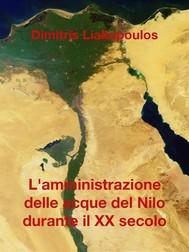 L'amministrazione delle acque del Nilo durante il XX secolo - copertina