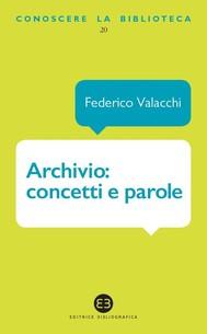 Archivio: concetti e parole - copertina
