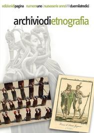 Archivio di Etnografia. 1/2013 - copertina
