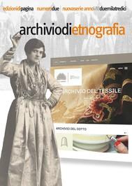 Archivio di etnografia. 2/2013 - copertina
