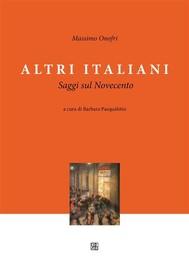 Altri Italiani, Saggi sul Novecento - copertina