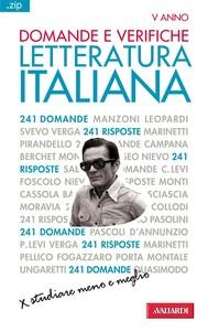 Domande e verifiche. LETTERATURA ITALIANA - copertina