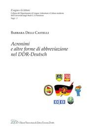 Acronimi e altre forme di abbreviazione nel DDR-Deutsch - copertina