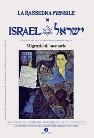 La rassegna mensile di Israel VOL. LXXVIII N. 3 SETT -DIC 2012 (MIGRAZIONI MEMORIE) - copertina