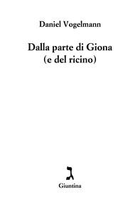 Dalla parte di Giona (e del ricino) - Librerie.coop