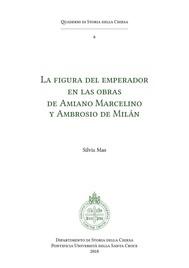 La Figura del emperador en las obras de Amiano Marcelino y Ambrosio de Milán - copertina