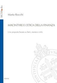 MacIntyre e l'etica della finanza - copertina