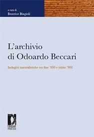 L'archivio di Odoardo Beccari - copertina