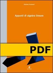 Appunti di algebra lineare - copertina