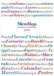 Micromega: 2 Almanacco di filosofia - copertina