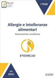 Allergie e intolleranze alimentari: documento condiviso - copertina