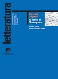 40 sonetti di Shakespeare - copertina