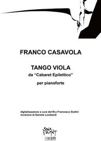 "Tango Viola per il ""Cabaret Epilettico"" - Librerie.coop"
