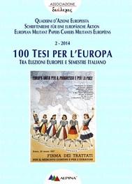 100 Tesi per l'Europa - copertina