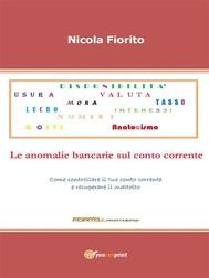 Anatocismo – Le anomalie bancarie sul conto corrente - copertina