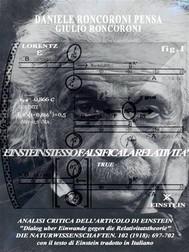 Analisi critica dell'articolo di Einstein - copertina
