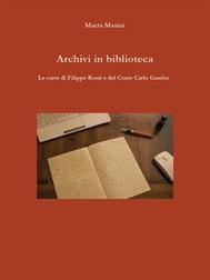 Archivi in biblioteca - copertina
