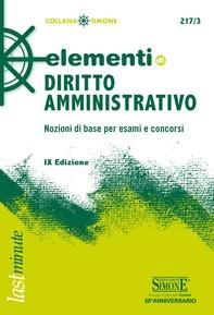 Elementi di Diritto Amministrativo - Librerie.coop