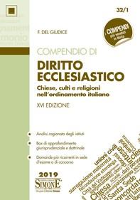 Compendio di Diritto Ecclesiastico - Librerie.coop