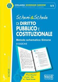 Schemi & Schede di Diritto Pubblico e Costituzionale - Librerie.coop