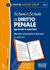 Schemi & Schede di Diritto Penale (generale e speciale) - Librerie.coop