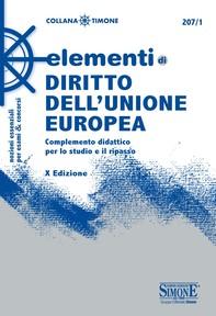 Elementi di Diritto dell'Unione europea - Librerie.coop