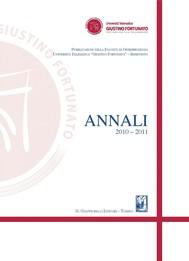 Annali 2010 - 2011 - copertina