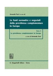 Le fonti normative e negoziali della previdenza complementare in Europa - copertina