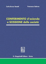 CONFERIMENTO d'azienda e SCISSIONE delle società - copertina