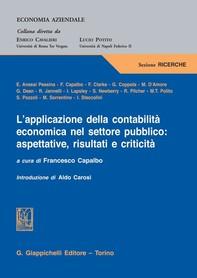 L'applicazione della contabilità economica nel settore pubblico: aspettative, risultati e criticità - Librerie.coop