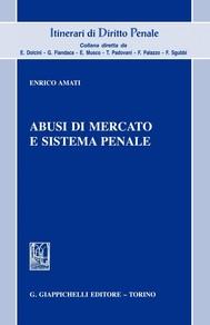 Abusi di mercato e sistema penale - copertina