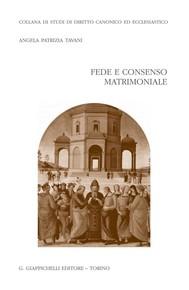 Fede e consenso matrimoniale - copertina