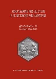 Associazione per gli studi e le ricerche parlamentari - copertina