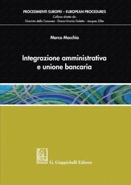 Integrazione amministrativa e unione bancaria - copertina