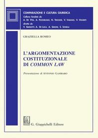 L'argomentazione costituzionale di common law - Librerie.coop